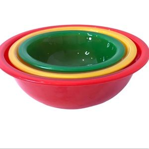 Pyrex Clear Bottom Nesting Bowls Primary Colours